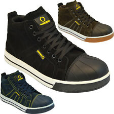 **MEN SAFETY BOOT LEATHER STEEL TOE CAPS ANKLE TRAINERS HIKING SHOES SIZE 6-11UK