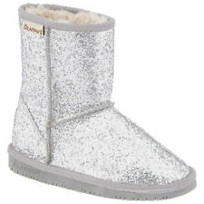 BEARPAW CHERI BOOTS FOR YOUTH KIDS ALL SIZES IN SILVER
