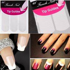 10 Pics Fashion French Manicure Nail Art Form Fringe Guides Sticker DIY Stencil