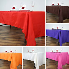 15 pcs Wholesale Lot 60x126 RECTANGLE POLYESTER TABLECLOTHS Wedding Party Supply