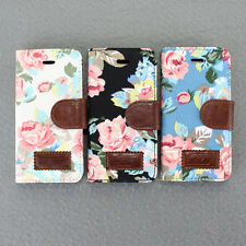 Hot Sale Magnetic Leather Flip Wallet Pouch Flower Skin Case Cover For iPhone 5C