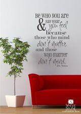 Be Who You Are Dr. Seuss Wall Decal Quote - Vinyl Wall Stickers