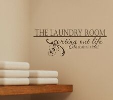 Laundry Sorting Out Life Wall Decal - Vinyl Wall Sticker Art