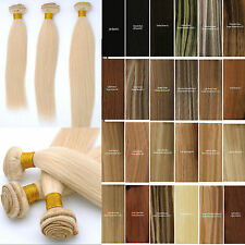 100% Brazilian Bundle hair weft remy human hair extension straight hair 100g H2