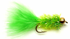 3x, 6x or 12x Fly Fishing Trout Flies (SCOT30) LIME IPN FRITZ LURE Trout Fly
