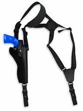 "NEW Barsony Black Leather Vertical Gun Shoulder Holster for Taurus 6"" Revolvers"