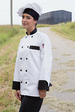 Newport chef coat, white, red, slate, stone,black, houndstooth trim, XS-6XL,404