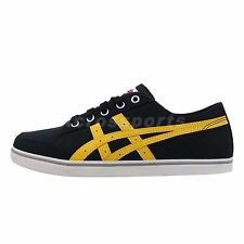 Asics Onitsuka Tiger OT Earlen Black Canvas Yellow Casual Shoes Sneakers