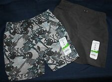Boys Pull-on Shorts - Jumping Beans - Sizes 6M to 24M - Gray Skull Camo or Black