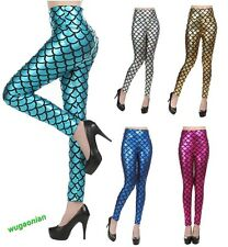 Sexy Strong Stretch Fish Scale Mermaid Printed Leggings Skinny Pants Tights