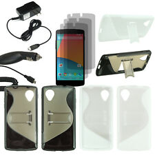 Hard Stand Case TPU Skin For LG Google Nexus 5 D820 3x LCD Car Home Charger