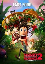 New Movie Poster Print - Cloudy with a chance of Meatballs 2 A3 / A4