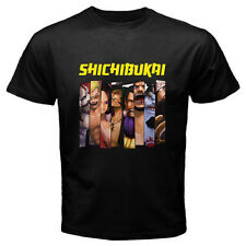 New ONE PIECE *Sichibukai Group Anime Manga Men's Black T-Shirt Size S to 3XL