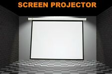 New Pulldown Manual Pull Down Projector Projection Screen Matt White 4:3