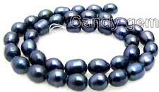 """SALE small 8-9mm Natural white Freshwater rice shape Pearl Loose Bead 14""""-los460"""
