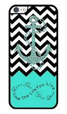 Love Infinity Anchor (Without Actual Glitter) Turquoise Rubber iPhone 5C case