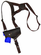 NEW Barsony Horizontal Brown Leather Shoulder Holster CZ, EAA Compact 9mm 40 45