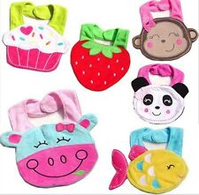 New Baby Infants Bibs Animals shapes Soft 3-absorbing layer Kid saliva towels