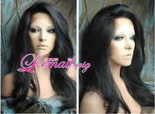 Soft indian remy 100%  human hair Natural Wave full lace wigs /lace front wigs