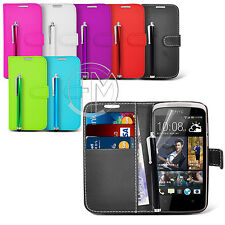 BOOK WALLET CASE FLIP LEATHER CASE COVER POUCH FOR HTC DESIRE 500