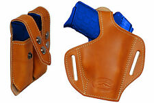 NEW Barsony Tan Leather Pancake Holster+Dbl Mag Pouch Paraordnance Comp 9mm 40