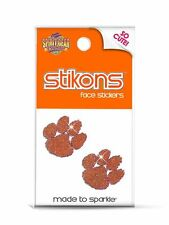 CLEMSON TIGERS - GLITTER FACE STICKERS - BLING TEMPORARY TATTOOS!