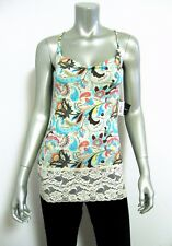 X0564 Baby Phat NEW Braided Strap Floral Viscose Lace Camisole Top and Thong Set