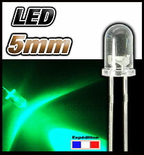 409# LED 5mm vert ronde - dispo 10, 25 ou 100pcs - green LED
