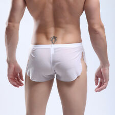 US Cyber Monday   Men's Shorts See-through Home pants Boxers briefs Underwear
