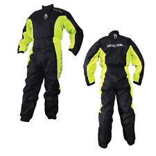 RICHA TYPHOON ONE PIECE RAIN OVERALL SUIT WATERPROOF MOTORCYCLE BLACK/YELLOW