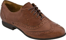 Women's Indigo by Clarks Charlie Brogue WingTip Oxford Cognac Leather 63144