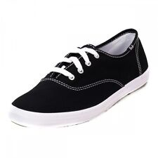 NEW Women's KEDS CHAMPION WF34100 Black Canvas Athletic  Fashion Sneakers Shoes