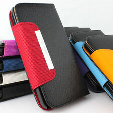 For Samsung Galaxy S II 2 S2 4G Flip Wallet Hybrid PU Leather Case Pouch w/Strap