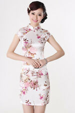 Charming Chinese women's mini dress evening dress Cheongsam size S--XXL