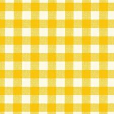 Checked Yellow Avanti 4269 Fleece Backed Tablecloth - Many Sizes