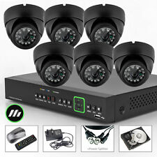 6 x Sony CCD 700TVL Colour Camera 8 Ch DVR CCTV System iPhoneUK Wireless H.264