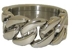 689 MENS DESIGNER  CHAIN LINK STAINLESS STEEL 316L STAMPED  RING