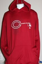 Cincinnati Reds MLB Majestic Hooded PullOver Red Sweater w/ Pockets 5XL