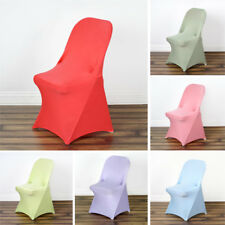 50 pcs SPANDEX Folding CHAIR COVERS Fitted Stretchable Wedding Party Decorations