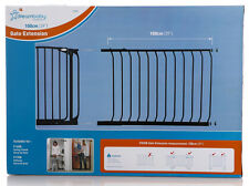 DREAMBABY STANDARD SAFETY GATE EXTENSION 100CM ** 75cm high Black or White