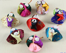 Wholesale Mix Colors Embroidered With Children Silk Jewelry Ring Bags Boxes