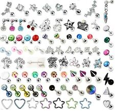 CZ Gem Tragus Bar Helix Cartilage Upper Ear Piercing Stud Top Earring Labret