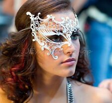 Phantom Collection Laser Cut Venetian Masquerade Mask w/Rhinestones - Filigree