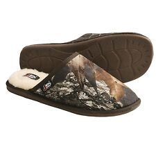 Justin Boots Camo Mens slide slippers Sherpa Lining NEW 8 9 10