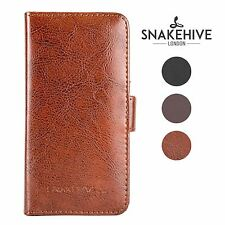 SNAKEHIVE® Genuine Real Leather Wallet Flip Case Cover for Nokia Lumia 1020