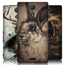 HEAD CASE POLY SKETCH PROTECTIVE SNAP-ON HARD BACK CASE COVER FOR SONY XPERIA ZR