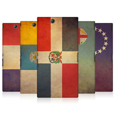 HEAD CASE VINTAGE FLAGS SET 3 HARD BACK CASE COVER FOR SONY XPERIA Z ULTRA C6802