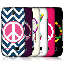 HEAD CASE PEACE EMBLEMS PROTECTIVE SNAP-ON BACK CASE COVER FOR NOKIA ASHA 310