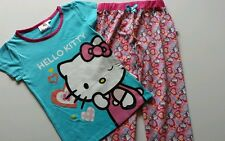 GIRLS PRETTY PINK HELLO KITTY PYJAMAS OR ONESIE NEW! AGES 1- 2 3 4 5 6 7 8