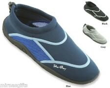 MEN'S SLIP ON WATER AQUA SHOES SOCKS BLACK BLUE GRAY GREEN SIZES 7 8 9 10 11 12